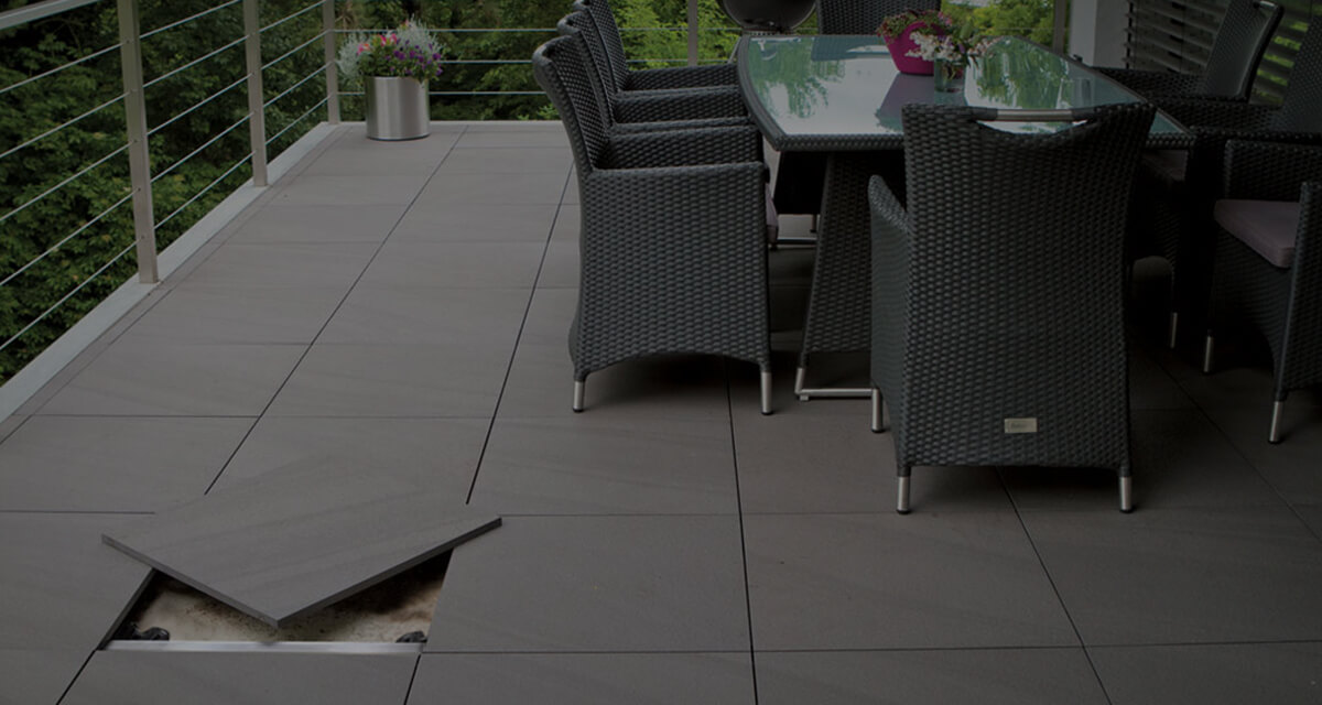 Picture of a Patio using Italian Porcelain Tiles