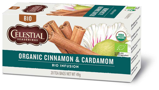 Sunita Fine Foods Celestial Seasonings Organic Cinnamon & Cardamom Herbal Tea