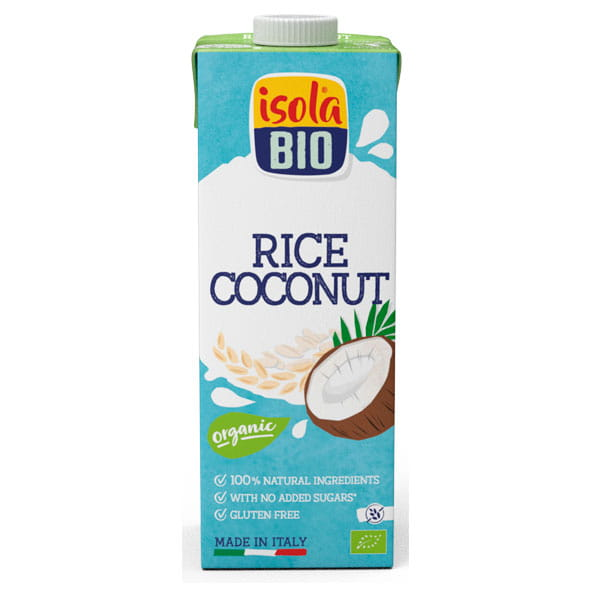 Isola Bio Organic Rice and Coconut Drink (gluten free) 1 Litre and 250ml