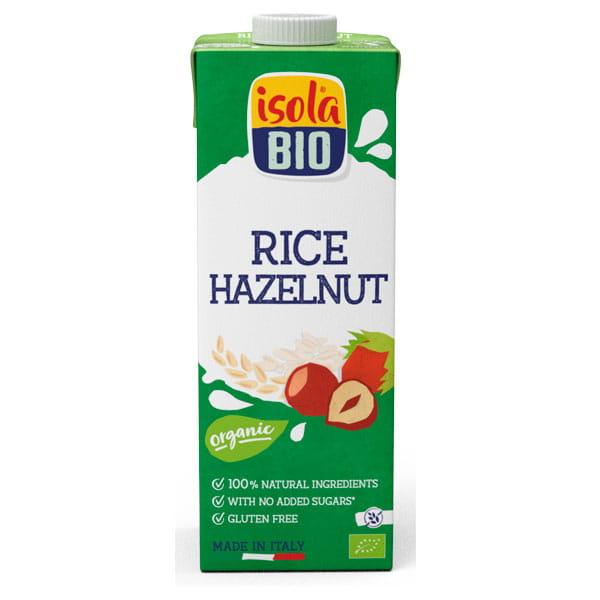 Isola Bio Organic Rice and Hazelnut Drink (gluten free) 1 Litre