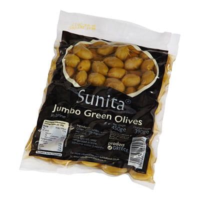 Sunita Fine Foods Jumbo Green Olives