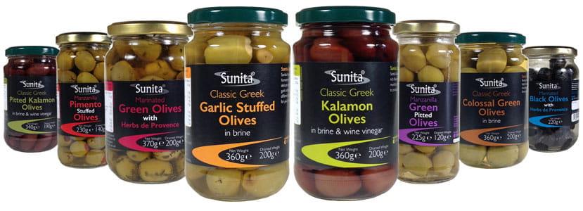 Sunita Fine Foods Range of Speciality Olives