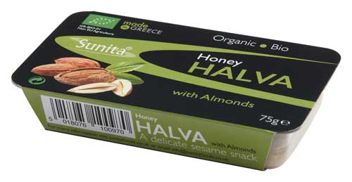 Sunita Fine Foods Organic Honey Halva with Almonds