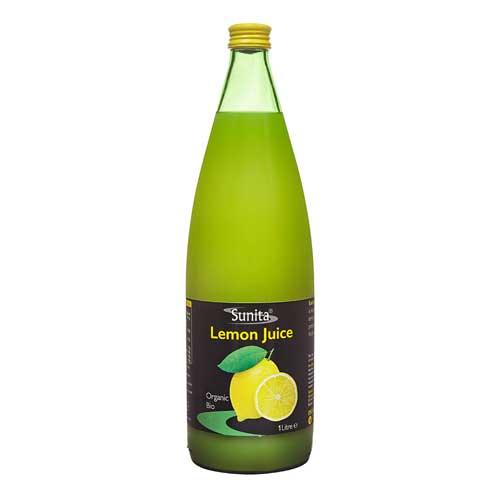 Sunita Fine Foods Organic Lemon Juice 1 Litre Bottle