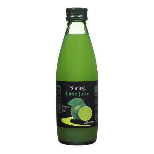 Sunita Fine Foods Organic Lime Juice 250 ml Bottle