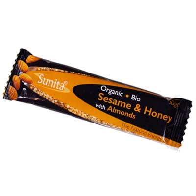 Sunita Fine Foods Organic Sesame & Honey Bar with Almonds