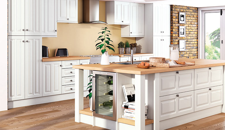 Bella Super White Ash Milano Kitchen