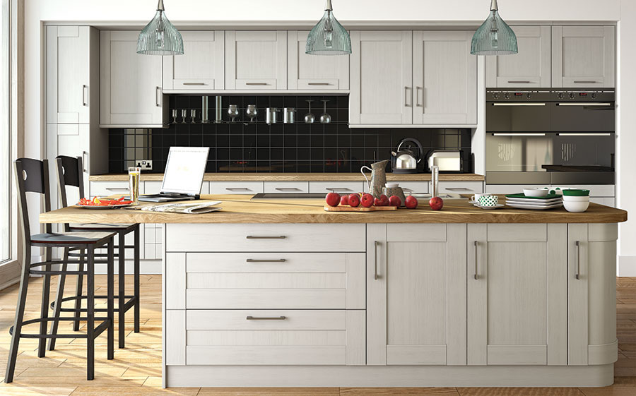 Pronto Oakgrain Grey Wilton Kitchen