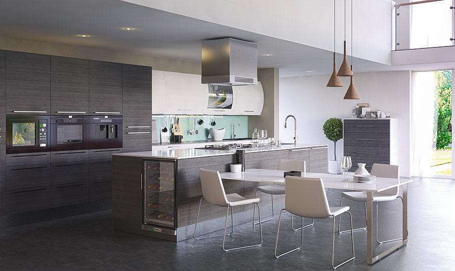 Bella Opengrain Dark Grey & White Venice Kitchen