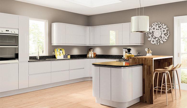 Pronto Light Grey Gloss Lacarre Kitchen