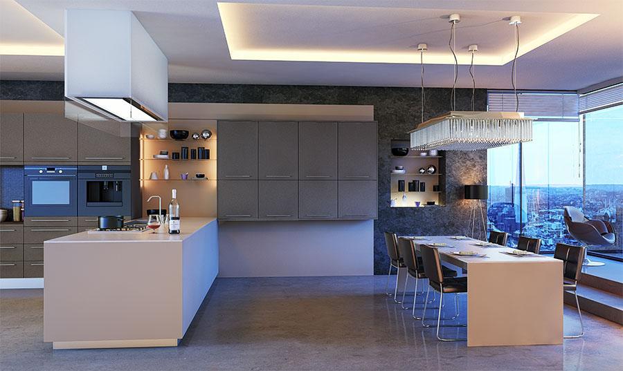 Zurfiz Ultramatt Metallic Basalt Kitchen