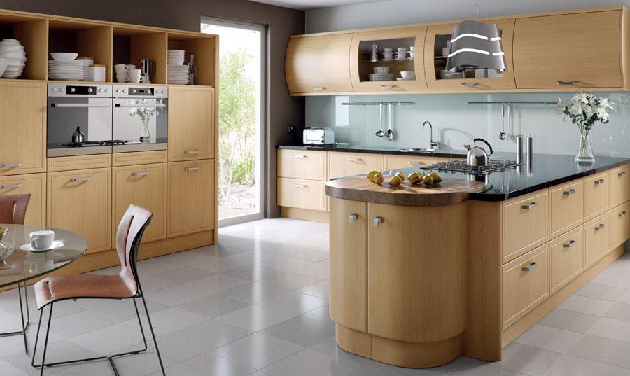 Bella Natural Oak Euroline Kitchen