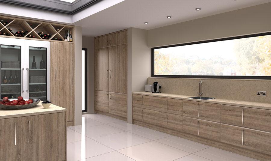 Bella Sonoma Natural Oak Pisa Kitchen