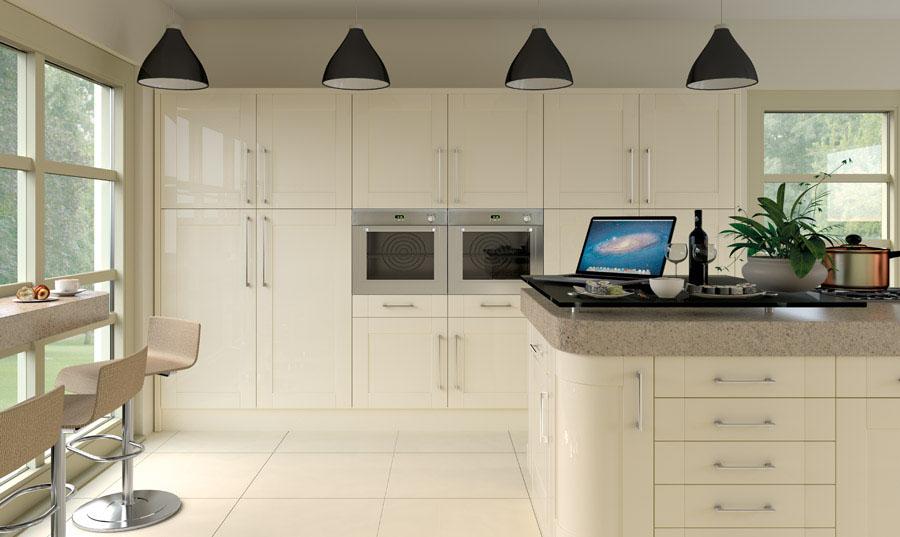 Pronto Cream Gloss Ludlow Kitchen
