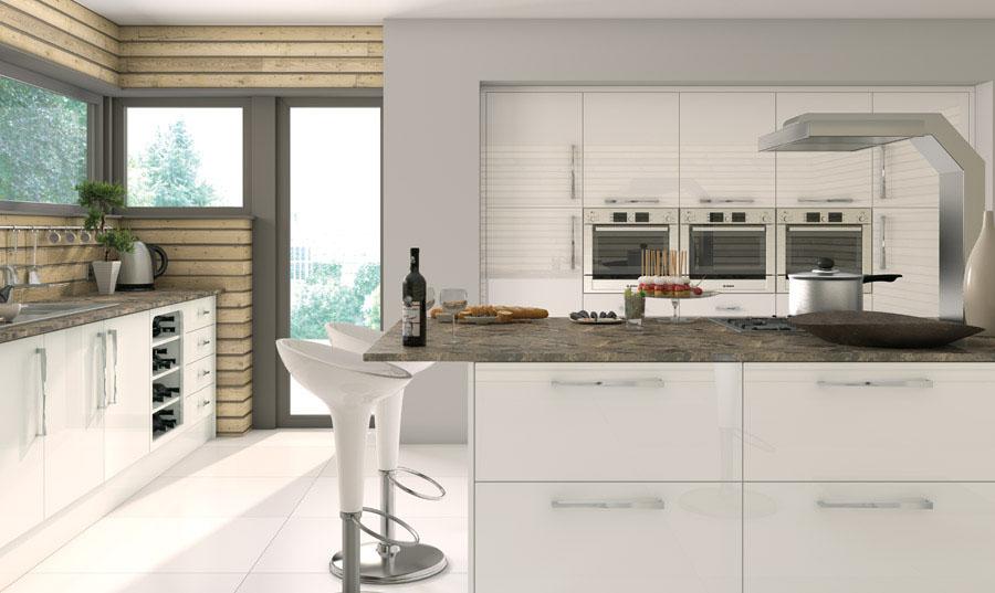 Pronto White Gloss Camden Kitchen