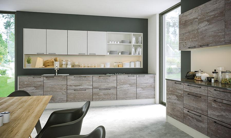 Zurfiz Driftwood Light Grey, Supermatt Light Grey Kitchen