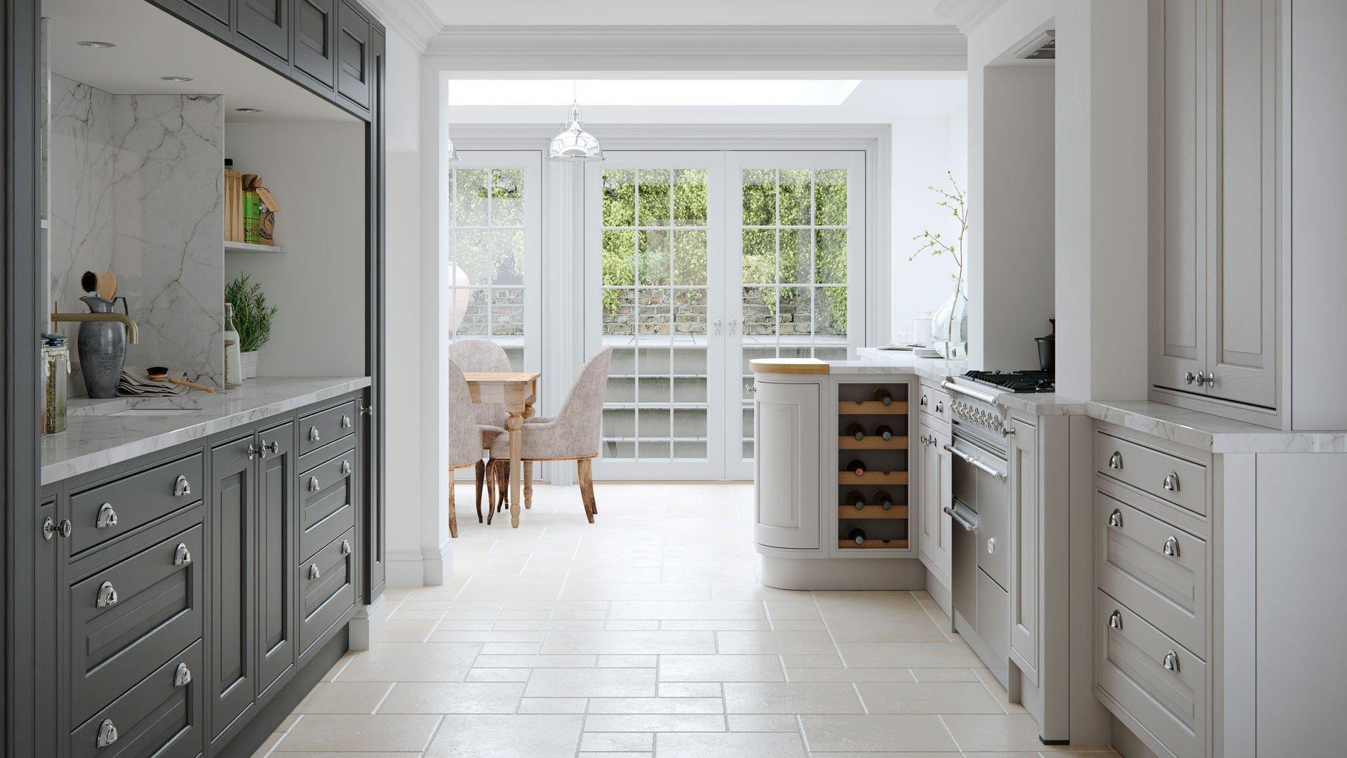 Multiwood Eildon Ash Bespoke Painted Kitchen