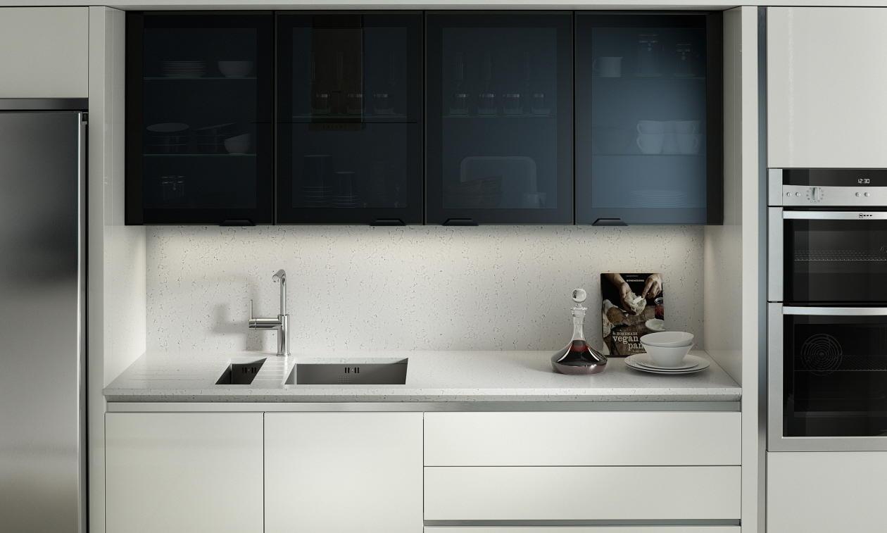 Second Nature Feature Black Glazed Kitchen