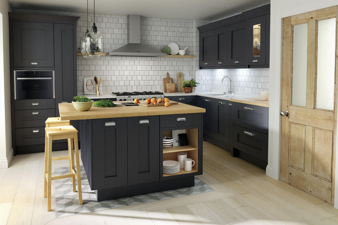 Second Nature Milbourne Charcoal Kitchen