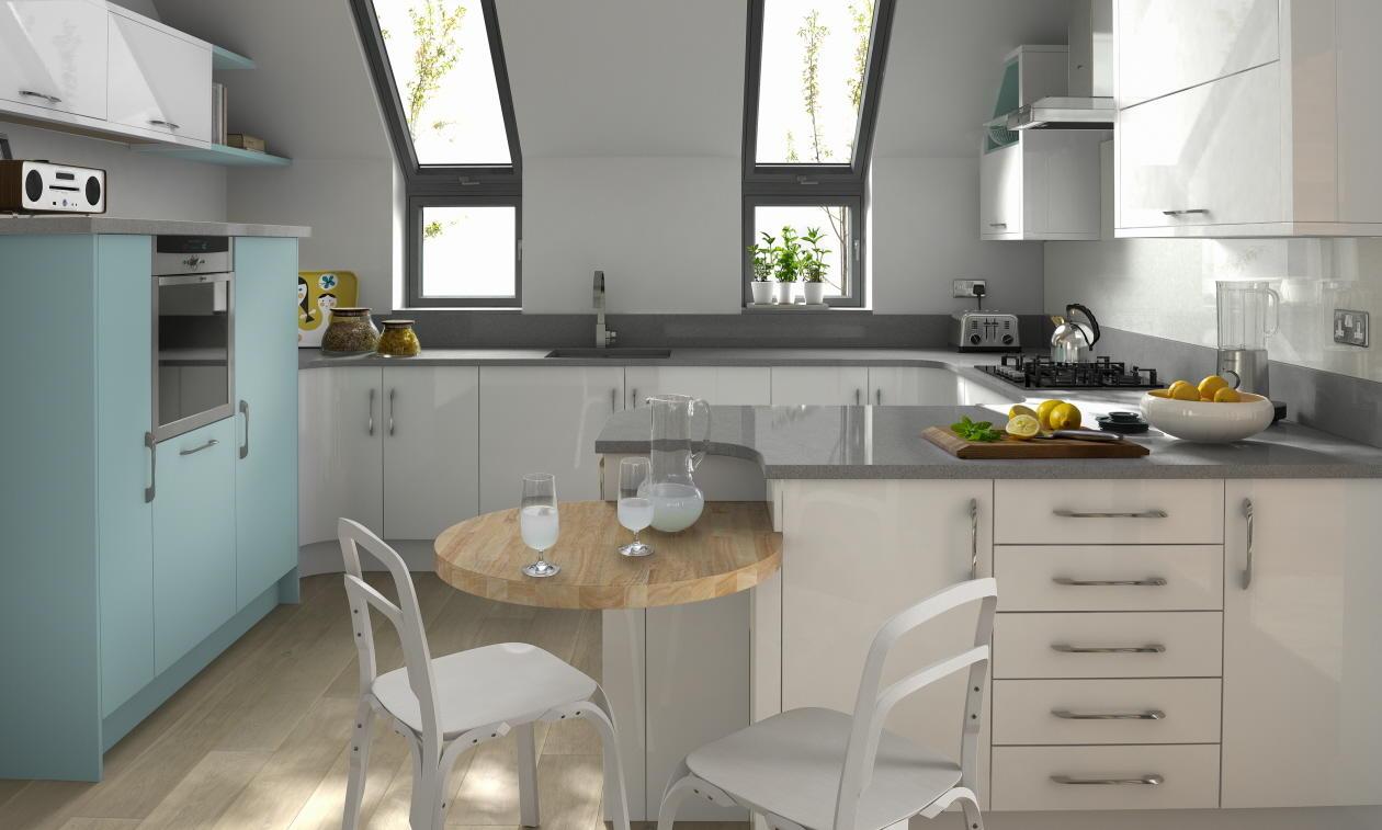 Second Nature Porter White Kitchen