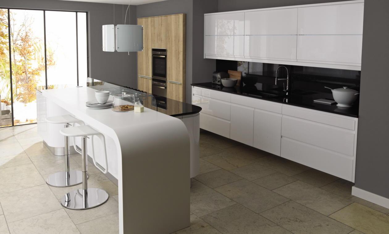 Second Nature Remo Gloss White Kitchen