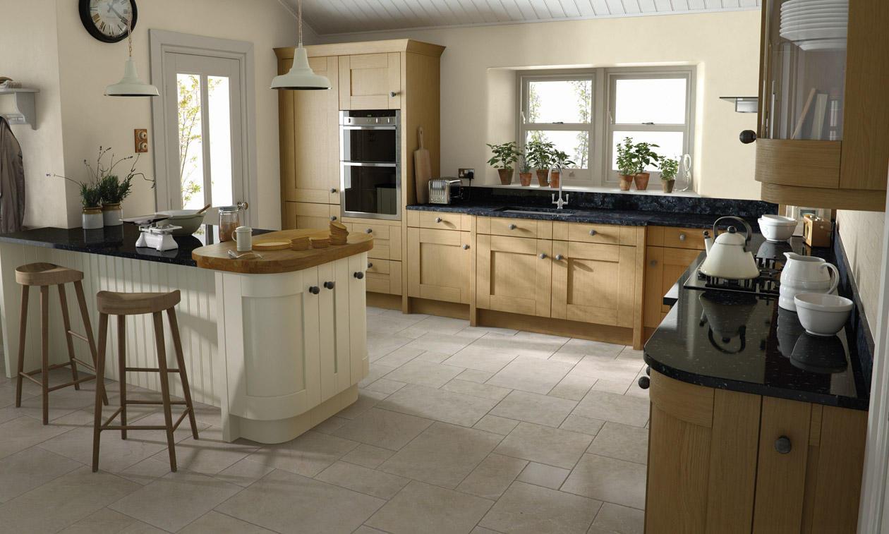 Second Nature Milbourne Oak Kitchen