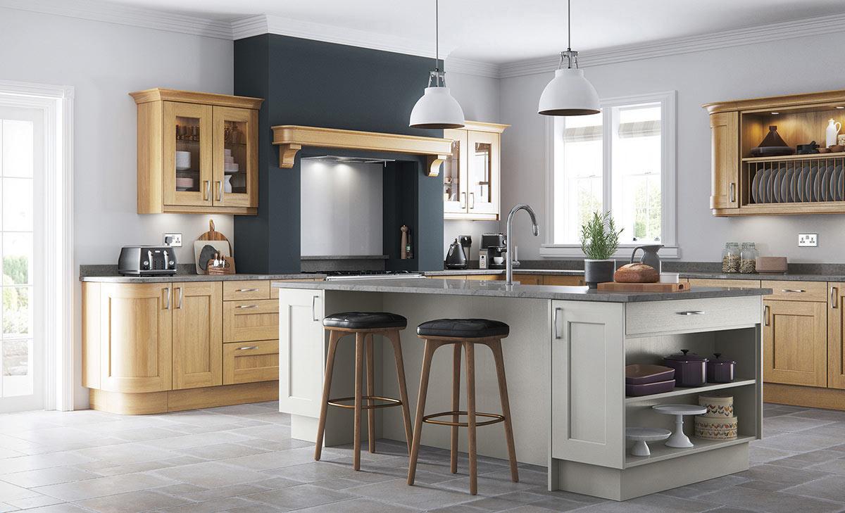 Uform Wakefield Oak & Stone Kitchen