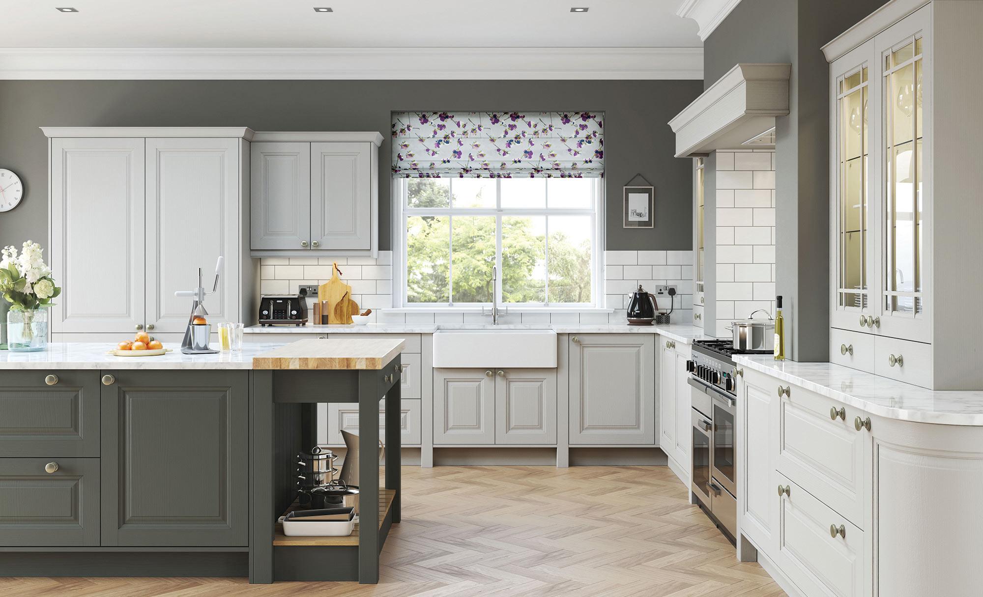 Uform Jefferson Light Grey & Gun Metal Grey Kitchen