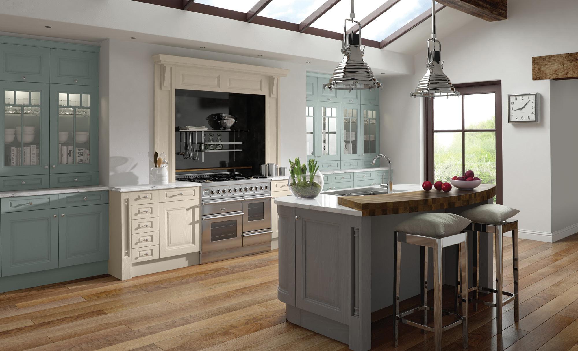 Uform Jefferson Ivory, Powder Blue & Dust Grey Kitchen