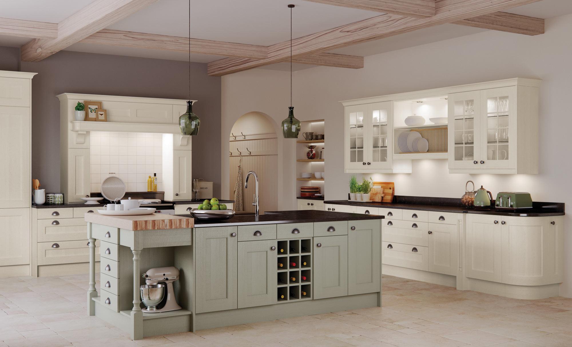 Uform Wakefield Ivory & Sage Green Kitchen
