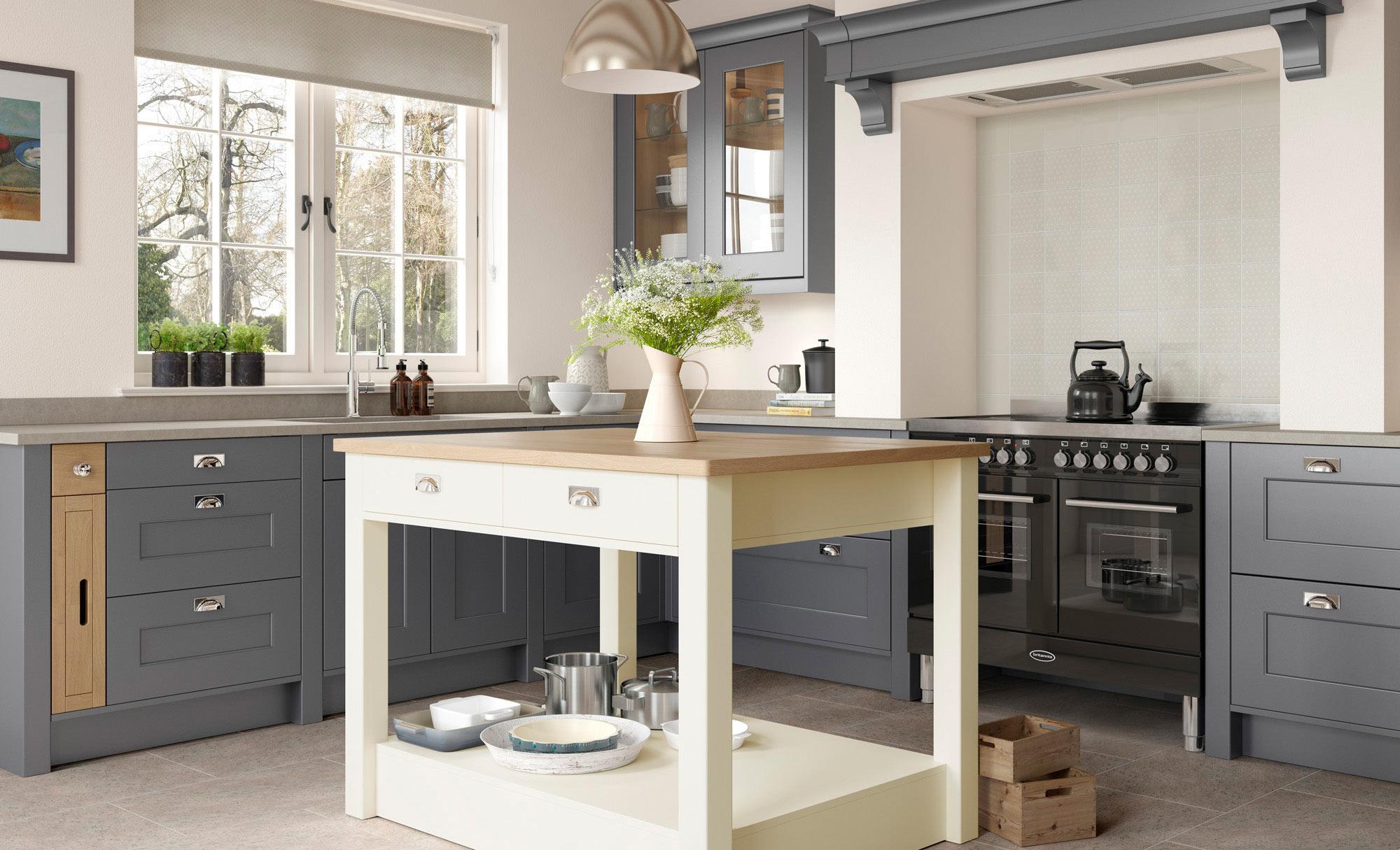 Uform Florence Dust Grey & Porcelain  Kitchen