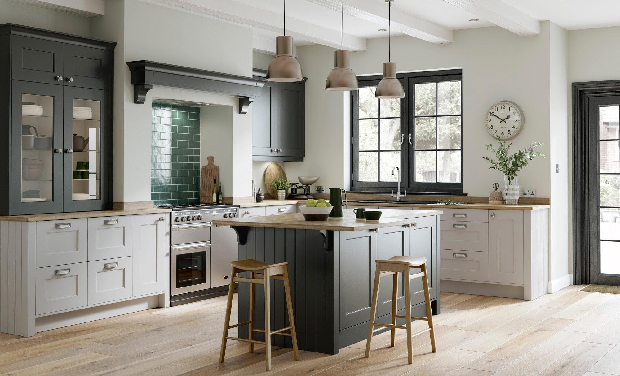 Uform Florence Graphite & Light Grey  Kitchen