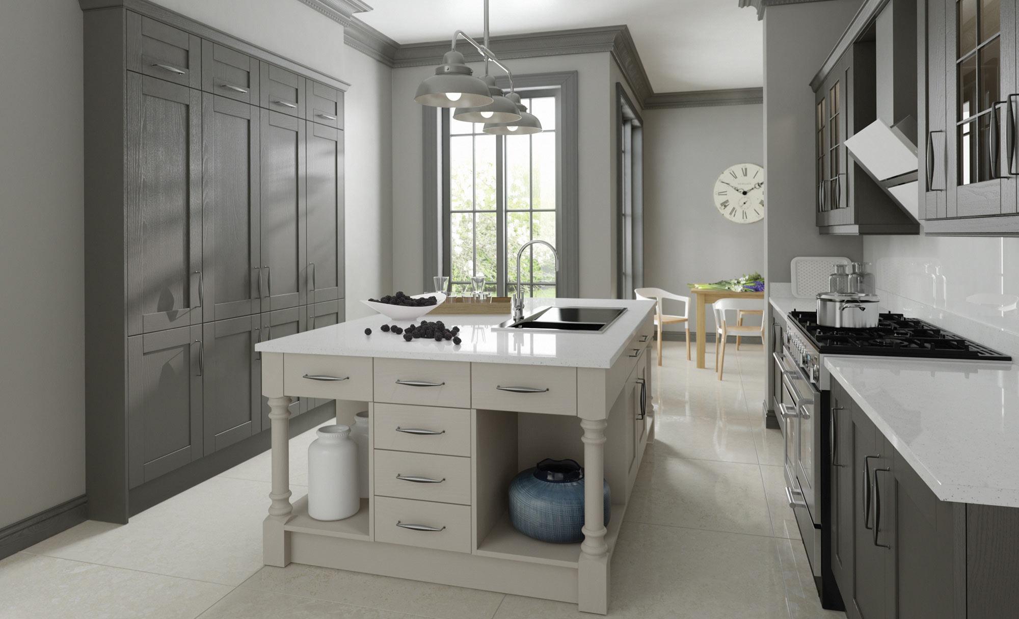 Uform Madison Lava & Light Grey Kitchen