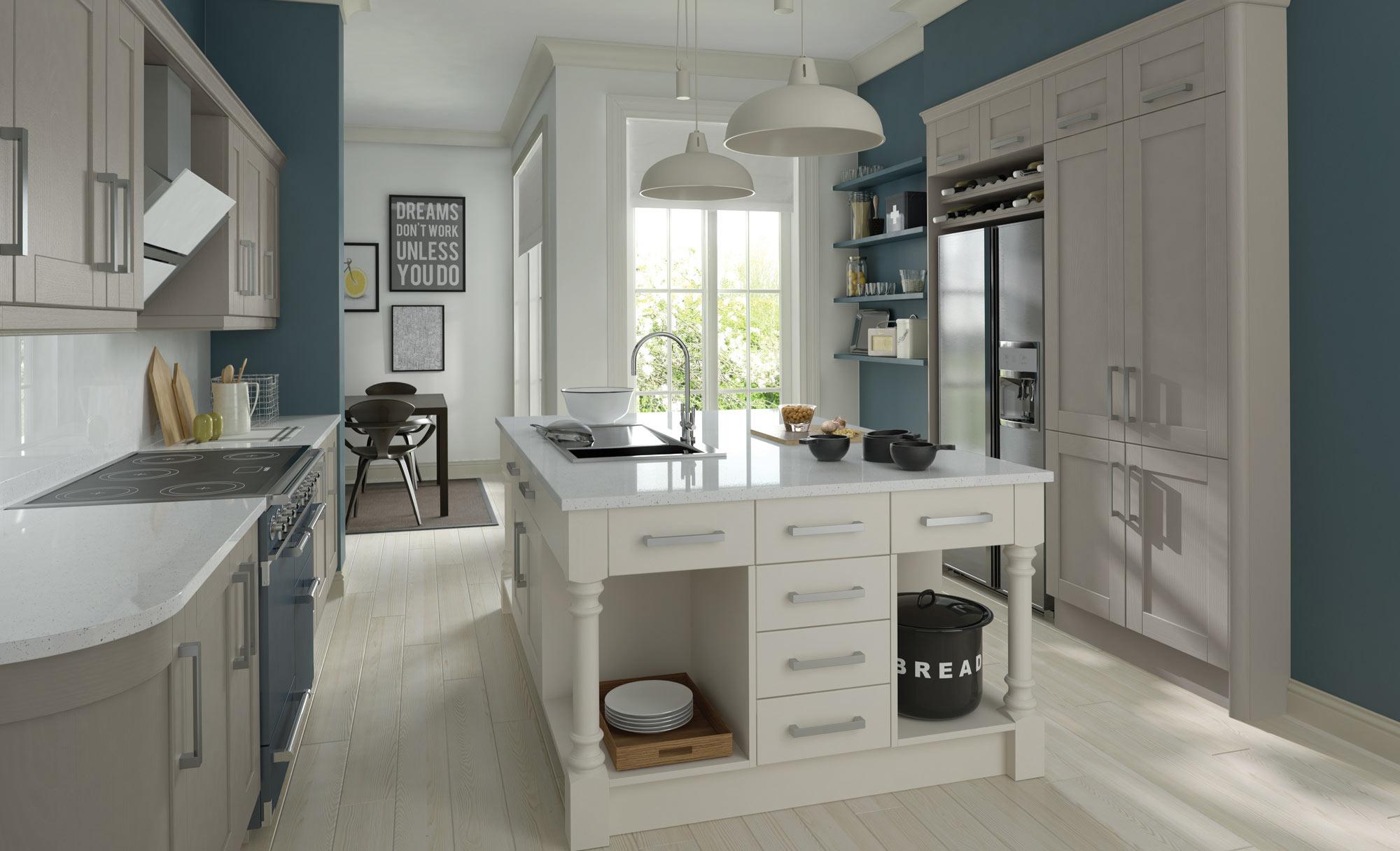 Uform Madison Stone & Brilliant White Kitchen