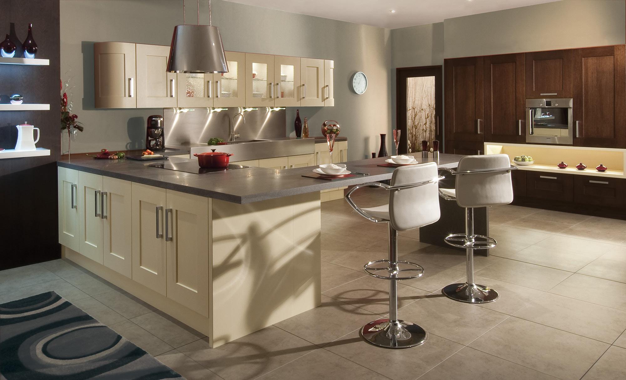 Uform Clonmel Oak Wenge & Cream Kitchen