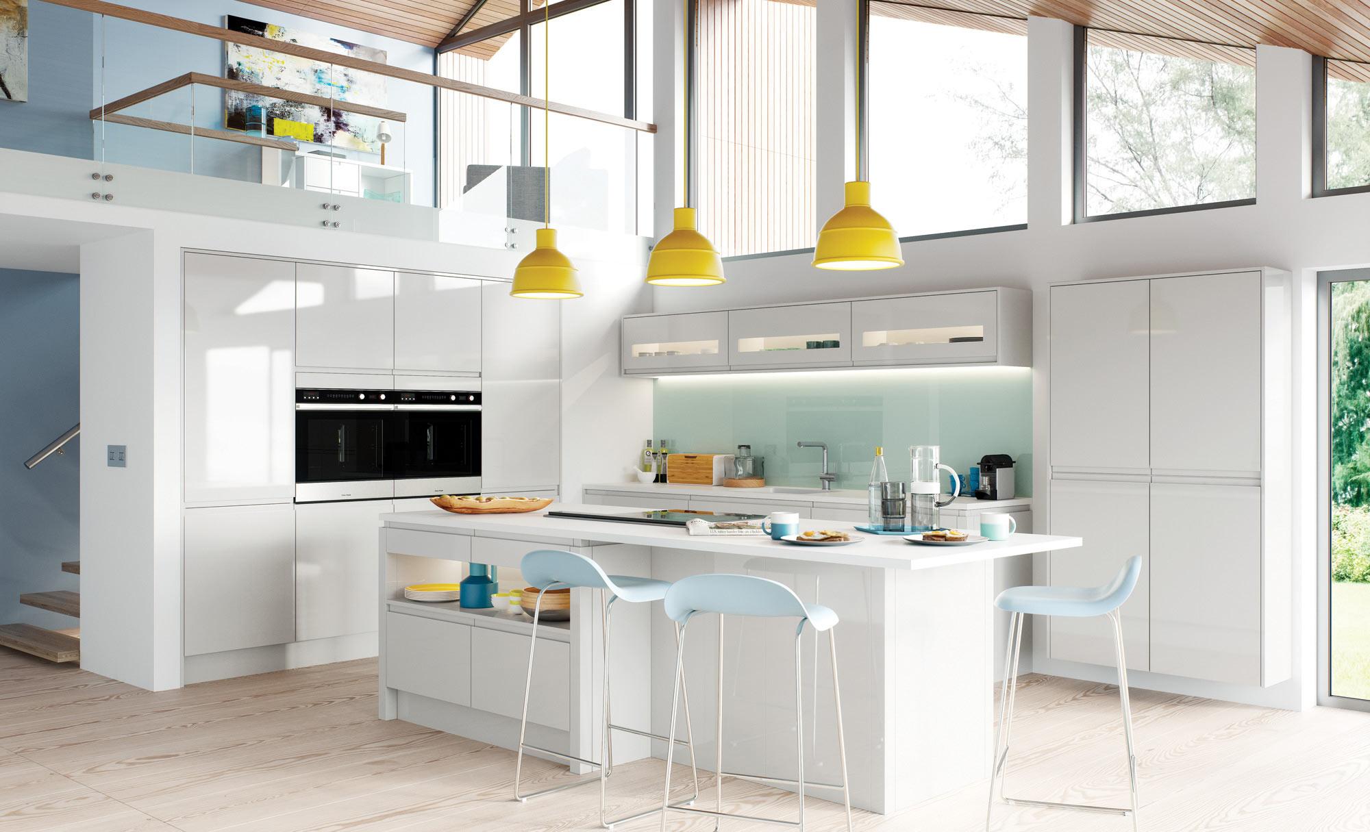 Uform Strada Gloss Light Grey Kitchen