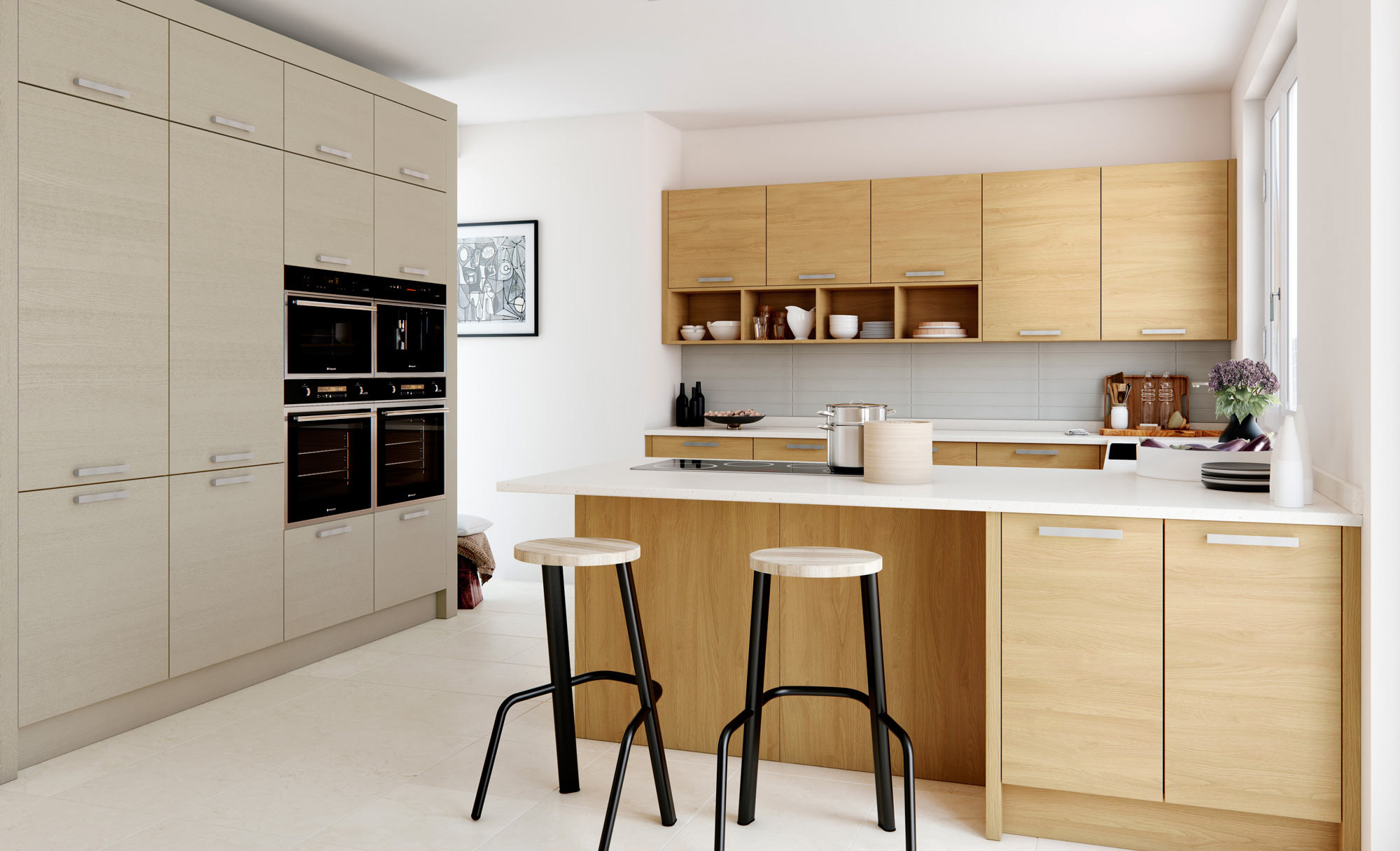 Uform Tavola Light Oak & Cashmere Kitchen