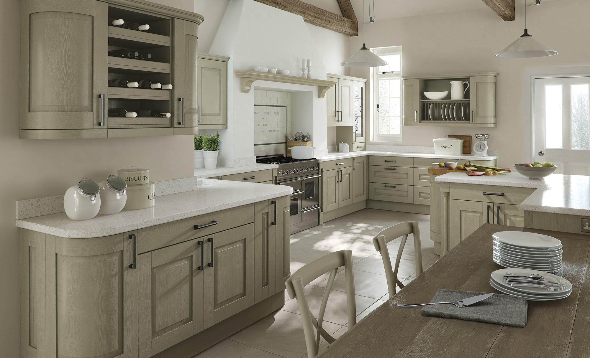 Uform Windsor Classic Sage Green Kitchen