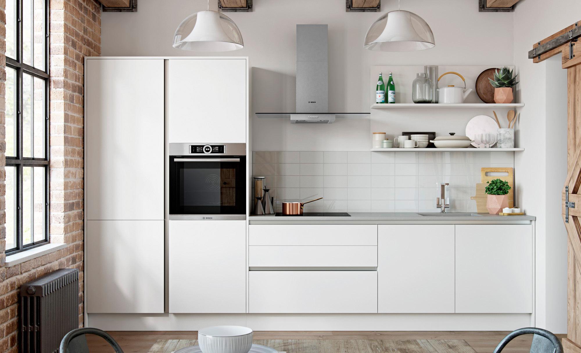 Uform Zola Matte Handleless White  Kitchen