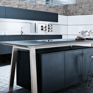 Schuller Next125  NX 500 Lava black satin kitchen