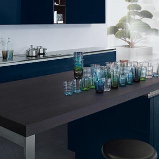 Schuller Next125  NX 501 Indigo blue high gloss kitchen