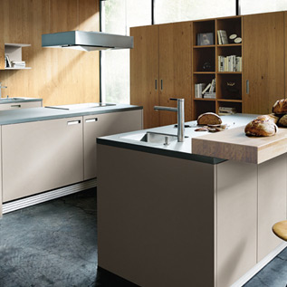 Schuller Next125  NX 510 Sand grey matt velvet kitchen