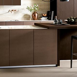 Schuller Next125  NX 902 Glass matt bronze metallic kitchen