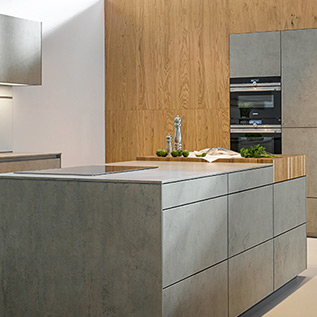Schuller Next125  NX 950 Ceramic concrete grey imitation kitchen