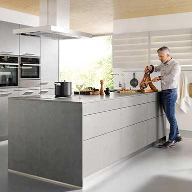 Schuller Elba Concrete Dark Grey Kitchen