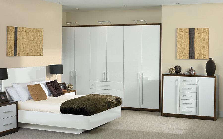 Bella High Gloss White Venice Bedroom