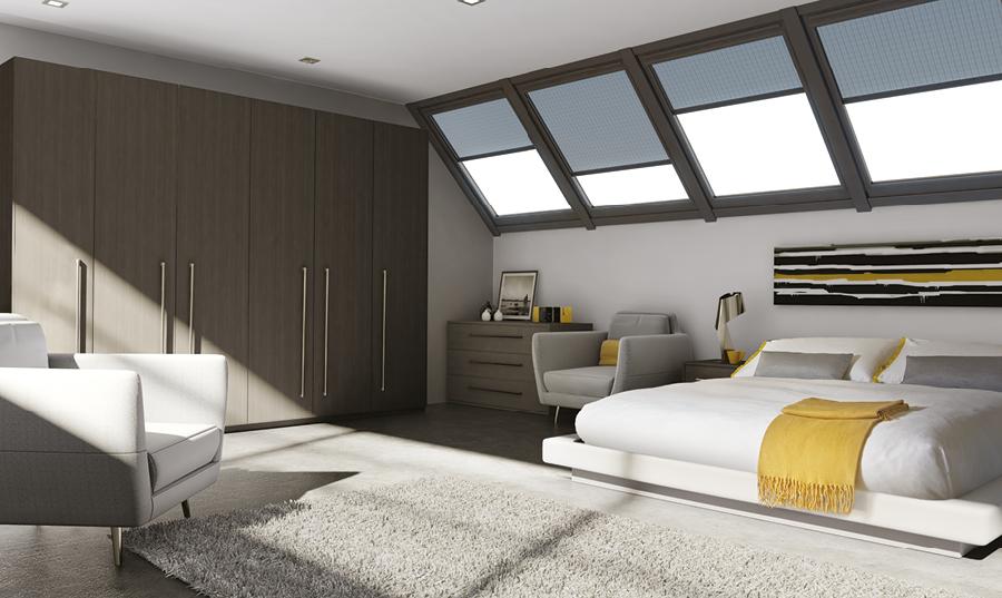 Bella Opengrain Dark Grey Venice Bedroom
