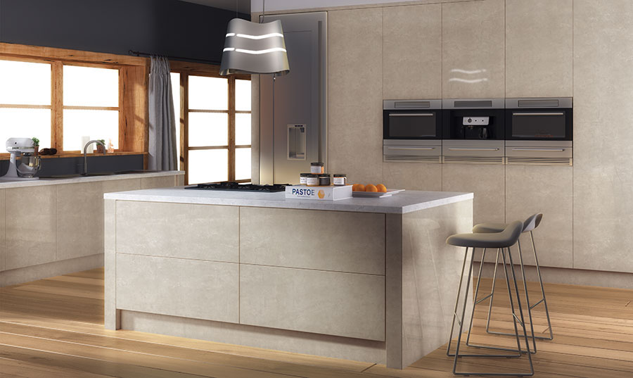 Zurfiz Ultragloss Limestone Kitchen