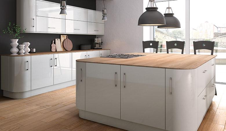 Zurfiz Ultragloss Light Grey Kitchen