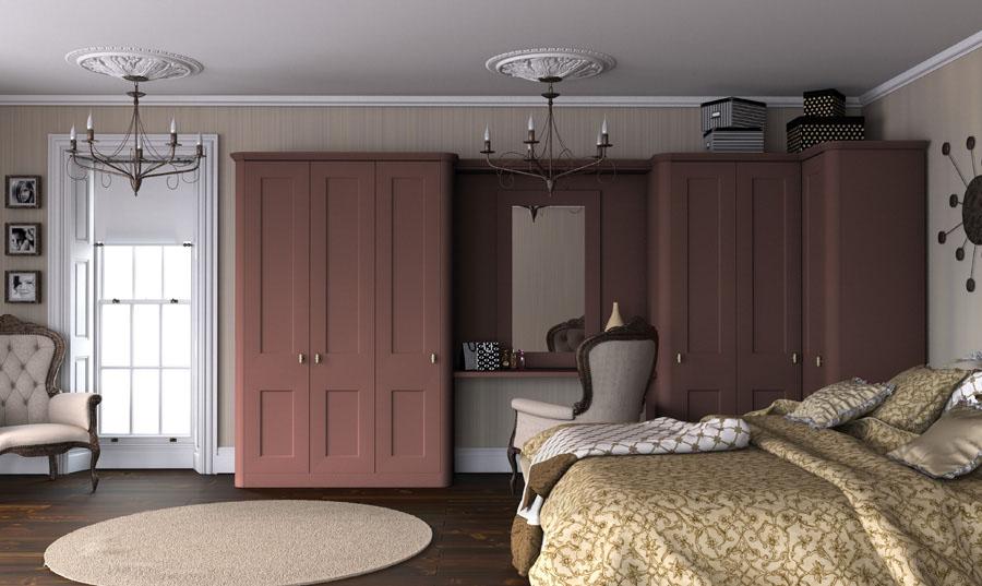 Bella Paintable Wardrobe Doors In Tuscan Red